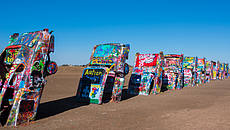 Cadillac Ranch - Amarillo Texas @gettyimages
